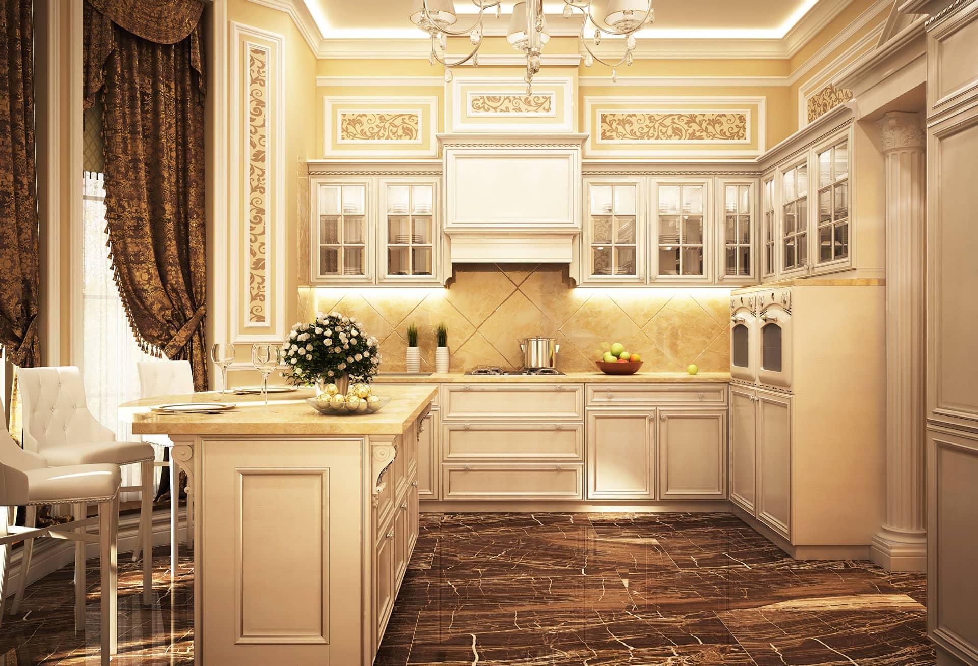 Картинки классический стиль кухни